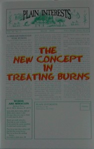 The New Concept In Treating Burns