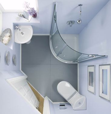 Cabin Bathroom Designs on Luxury Small White Bathroom With Shower Cabin